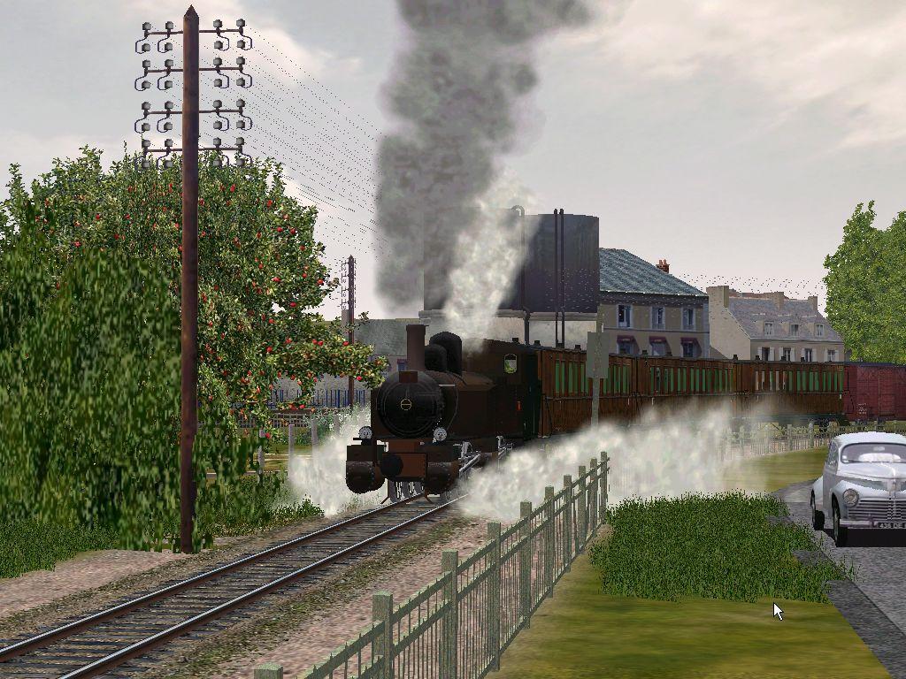 Au départ de Rosporden Train Mixte